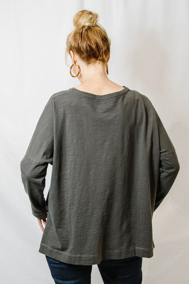 Round Neck Long Sleeve - Bark