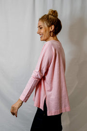 Round Neck Long Sleeve - Pink