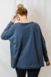 Round Neck Long Sleeve - Slate
