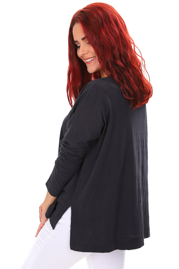 Round Neck Long Sleeve - Carbon