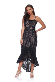 Ella Black Lace Flip Dress RD174011