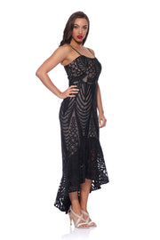Ella Black Lace Flip Dress by Romance RD174011