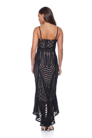 Romance Black Lace Flip Dress Romance