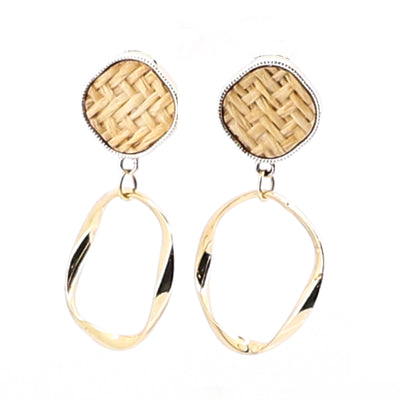 Woven Distorted Hoops - Gold