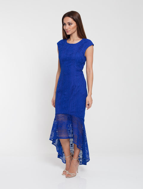 Romance Blue Lace Dress