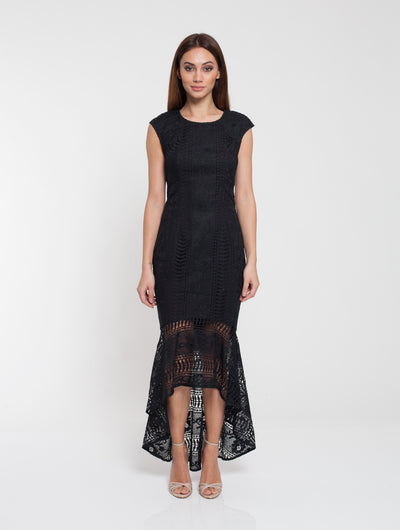 Romance Elle Lace Dress Black