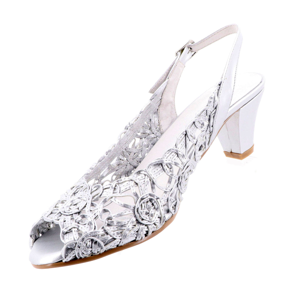 Emma Kate - Event Heels - Silver - Pizazz Boutique