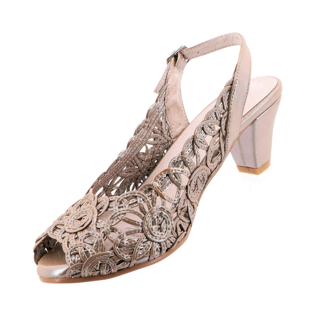 13d3f8117d74 Emma Kate - Event Heels - Soft Gold - Pizazz Boutique