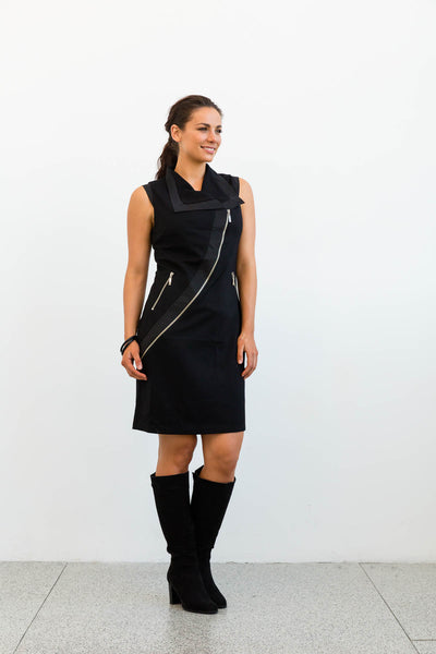 Florencia Phils curved zipper dress