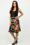 China Doll - Flippa Skirt - Floral Crown Bright - Pizazz Boutique