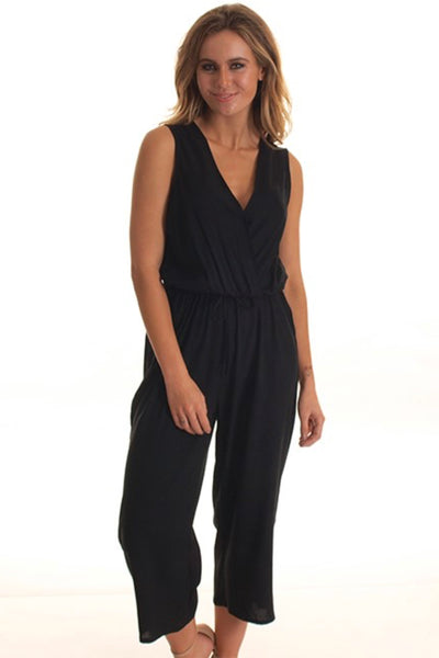 Freez - Palazzo Jumpsuit - Black - Pizazz Boutique - Night Out - Party