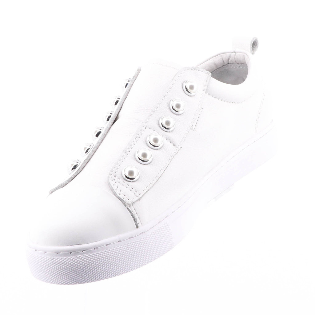 Hinako - Pearl Sneaker - Cream White Shoe - Pizazz Boutique