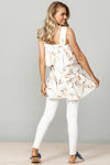 Holiday - Sweet William Top - Cream Beige Floral - Pizazz Boutique