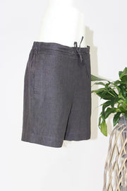Drawstring Mid Linen Shorts - Aniseed