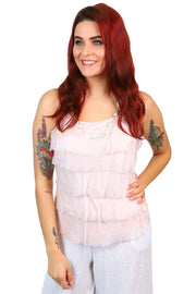 Jenny Jazz - Primadonna Feather Singlet - Rose Pink - Pizazz Boutique