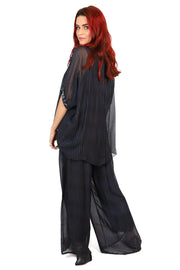 Primadonna Shimmer Top - Black Stripe