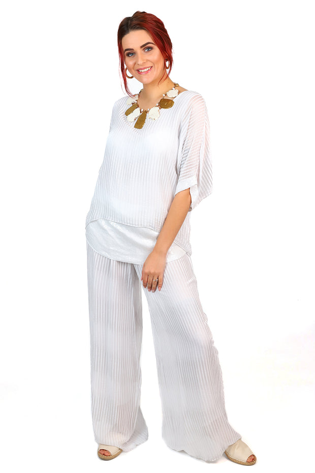 Jenny Jazz - Primadonna Prima Pants - White Stripe - Pizazz Boutique
