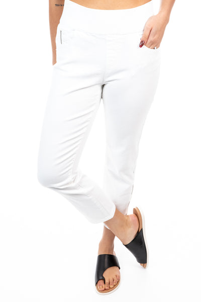 Foil - Zipping Softwear Jegging - White - Pizazz Boutique