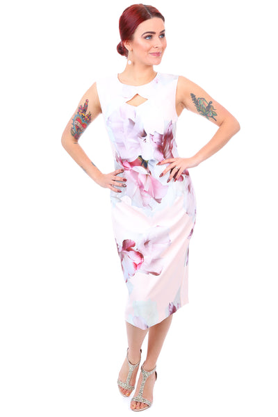 Jendi Umbridge Sleeveless Dress - Pink Floral Dress - Pizazz Boutique