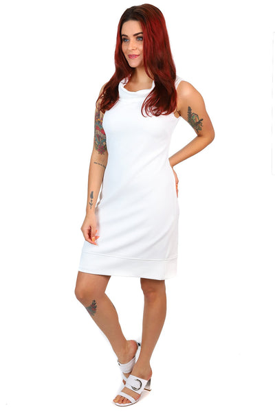 Joseph Ribkoff White 60's inspired cocktail dress