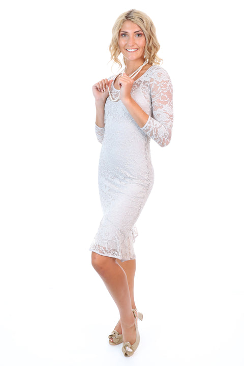 Emily Lace Dress in Lychee - Style No: 118195L