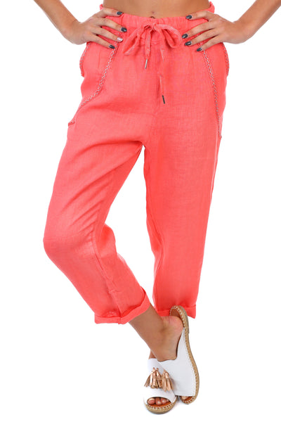 Messina Pants - Coral
