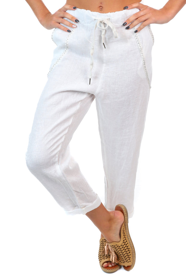 Messina Pants - White