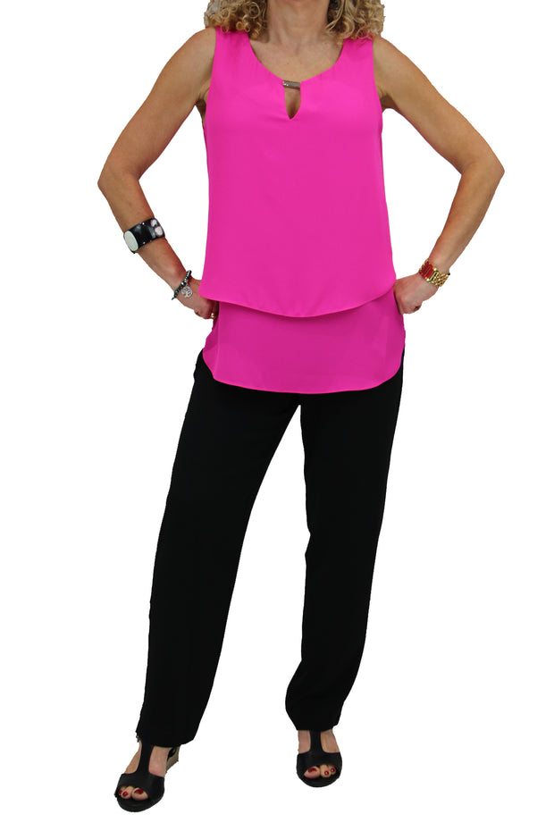 Neon Pink Layer Top - 181293
