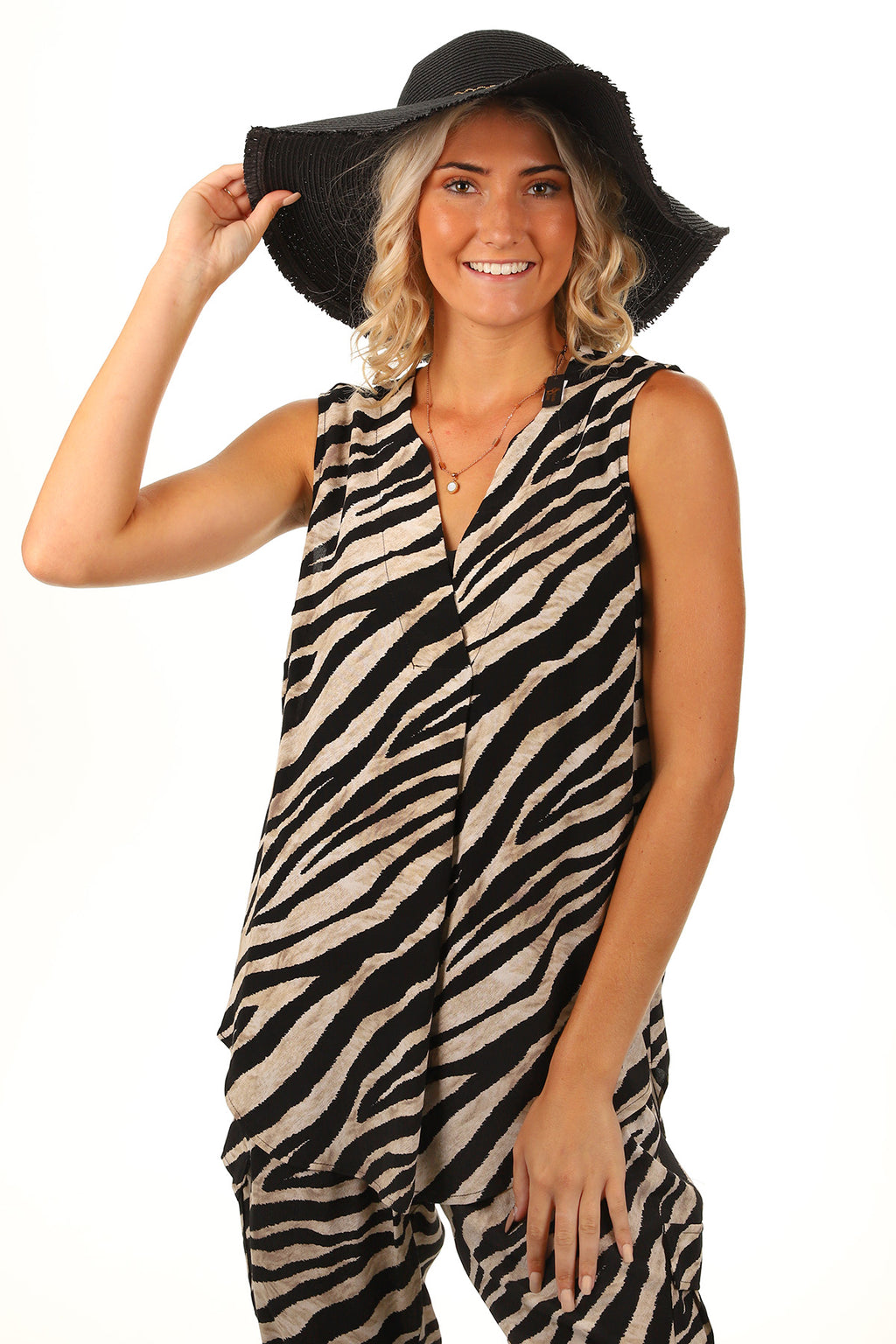Black & White Pineapple Dress-K1
