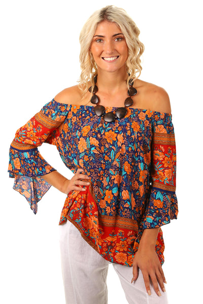 Rusty Night Off Shoulder Top