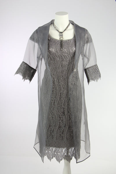 LS Collections Pewter Sparkle Dress & Jacket - 631-2 PDP
