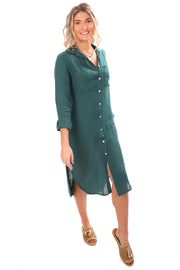 Sally Linen Dress - Bottiglia