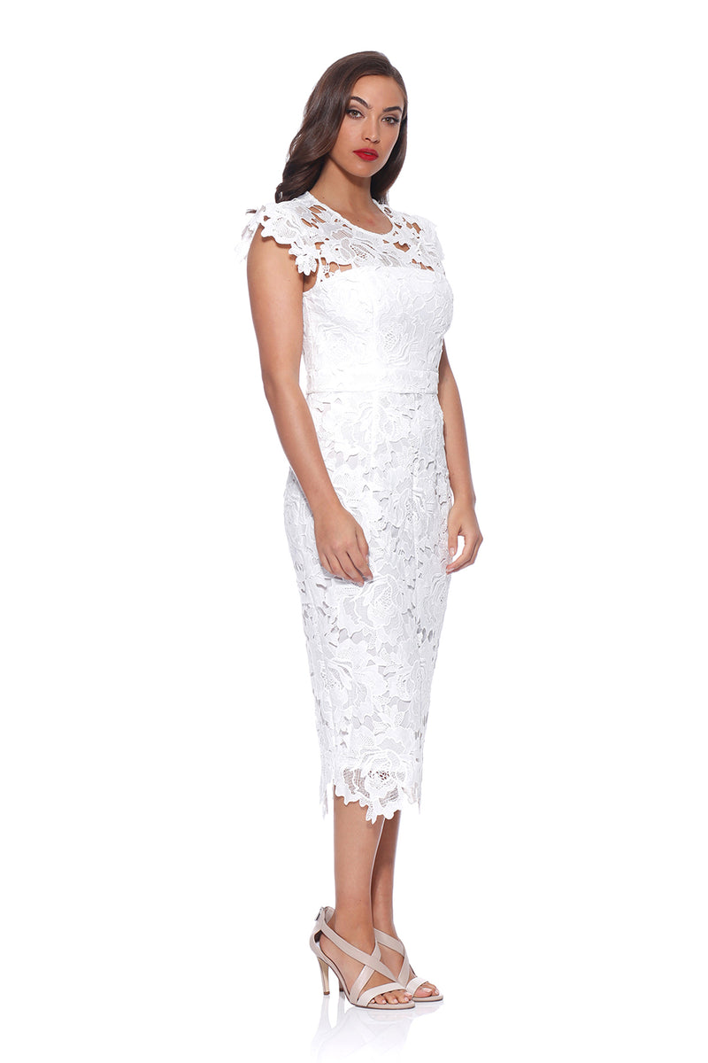 Jolie White Lace Dress by romance RD174002