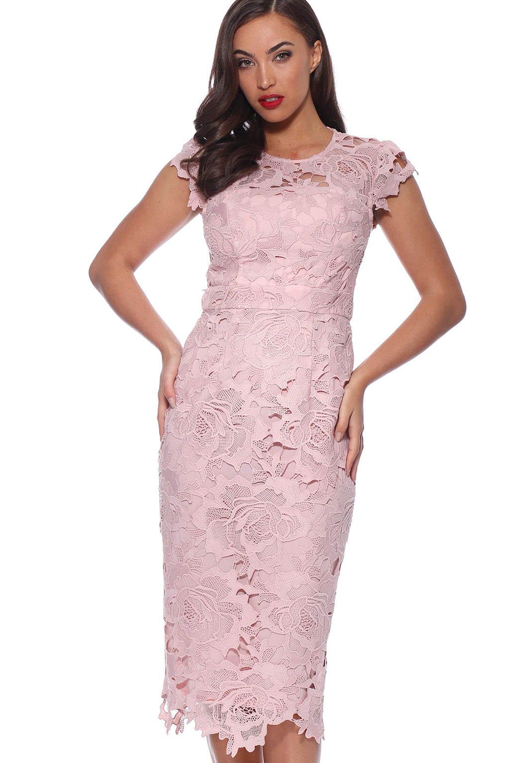 Pink and Lace Dress
