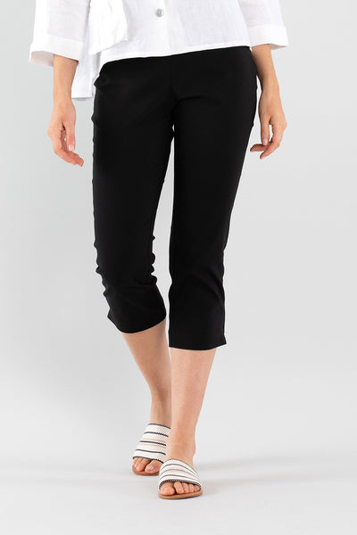 Cropped Split Pant - Black
