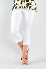 Cropped Split Pant - White