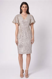 Maddison V Dress - Silver
