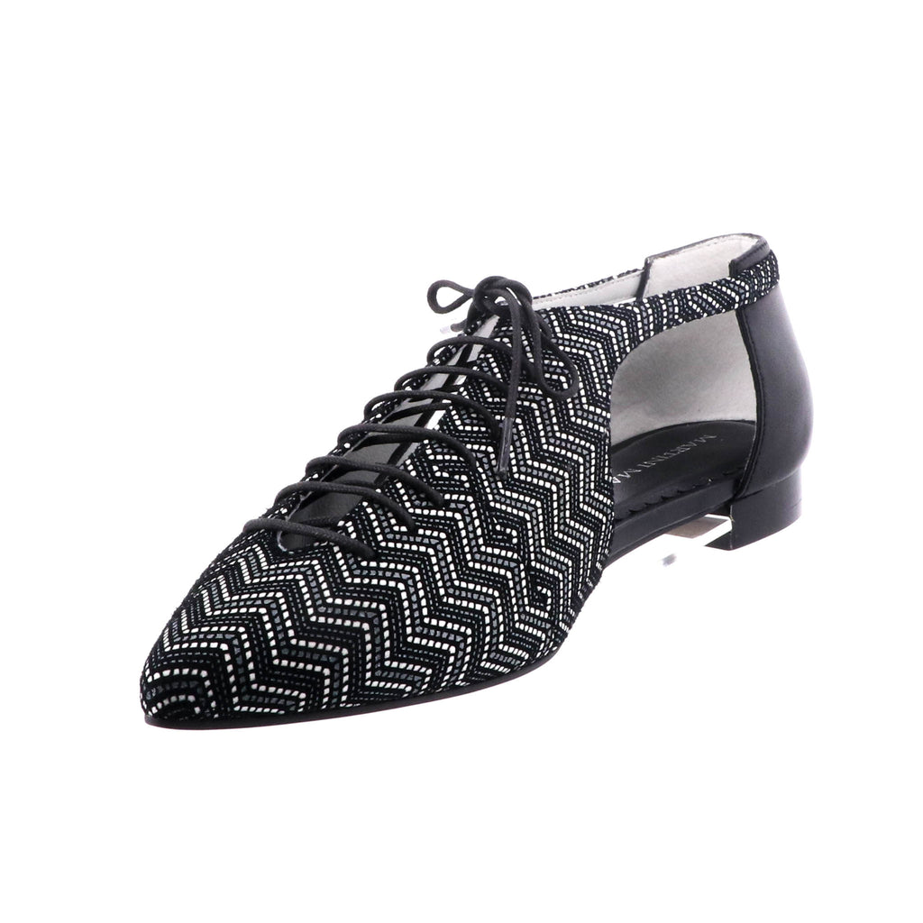 Martini Marco - Narra Shoe - Black and White Aztec  - Pizazz Boutique