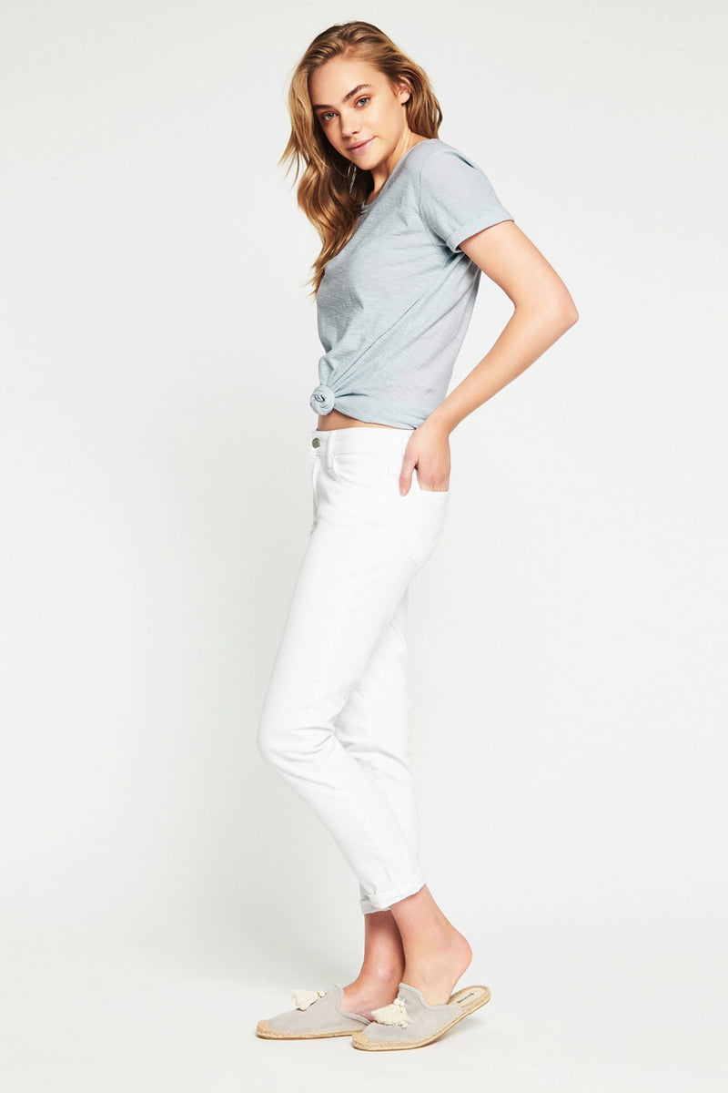 Mavi - Emma Boyfriend Jeans - White Stretch Denim - Pizazz Boutique