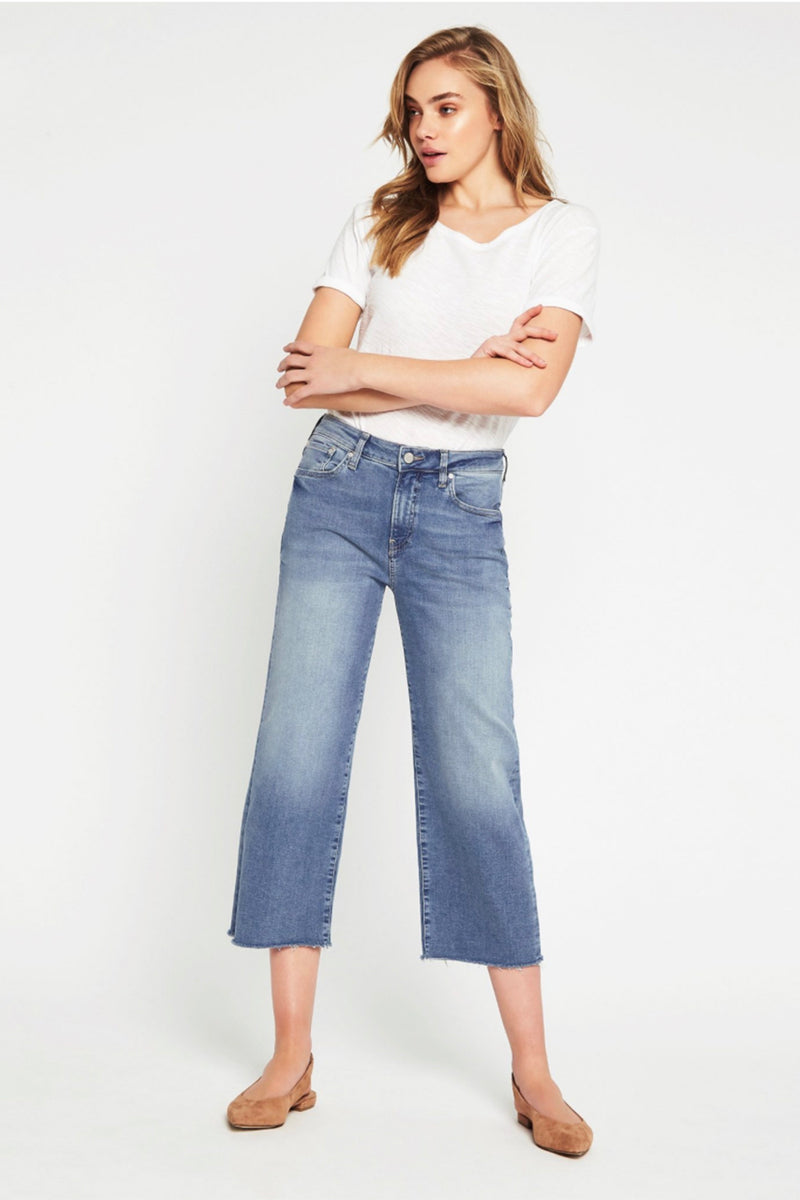 Mavi Denim - Romee High Rise Crop Jeans - Soft Blue - Pizazz Boutique