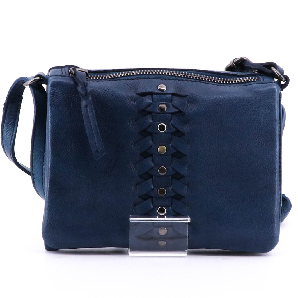 Modapelle - Cross Body Bag - Teal Blue Leather Bag - Pizazz Boutique