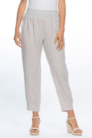 Gordon Smith - Jersey Waist Pull On Spot Linen Pants - Pizazz Boutique