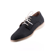 Rollie - Derby Black Dream Shoes - Black White Spot - Pizazz Boutique