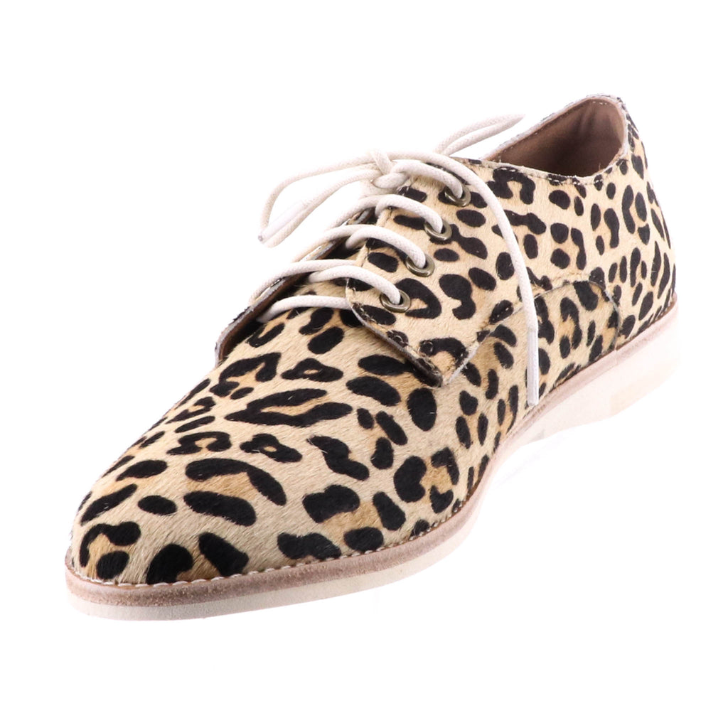 Rollie - Derby Camel - Leopard Print Shoes - Pizazz Boutique