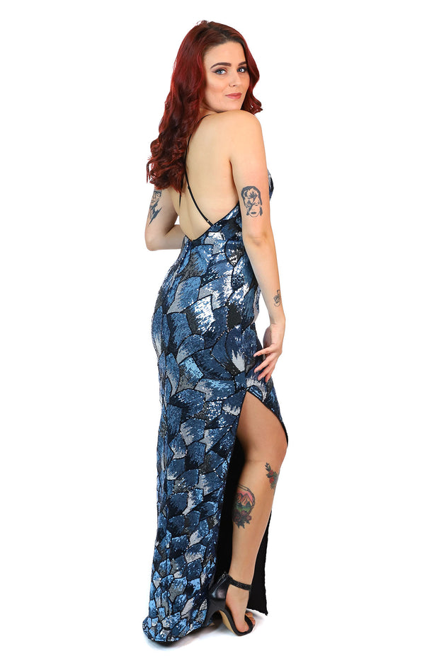 Notre Dame Maxi Dress - Navy Blue