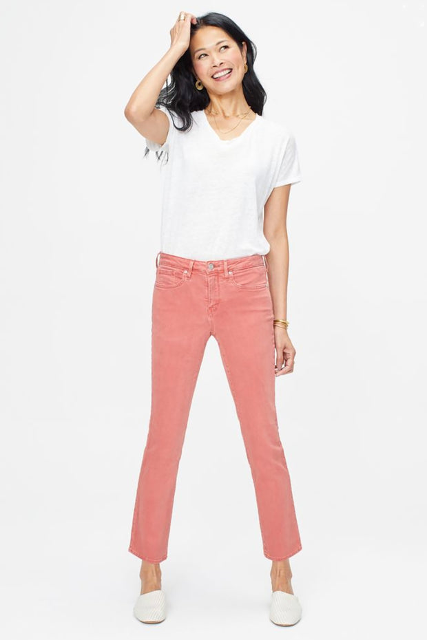 NYDJ - Sheri Slim Ankle Jean - Red Chilli Pepper - Pizazz Boutique