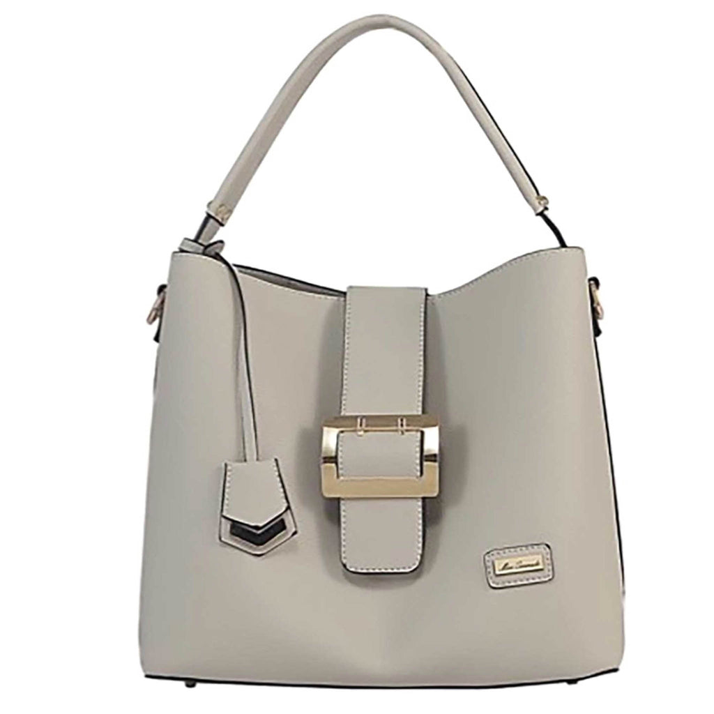 Arianna Soft Faux Leather Handbag - GREY