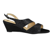 Party Glitter Black Wedge