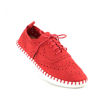 ESSE Lace Up Red Shoe