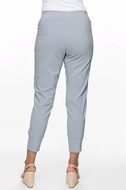Threadz - Basic Lace Front Pant - Silver 31409 - Pizazz Boutique